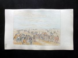 Catlin 1857 HCol North American Indian Print. Mandan Horse Racing 36